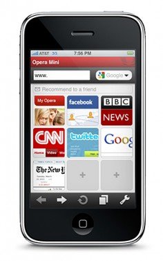 Opera Mini na iPhone